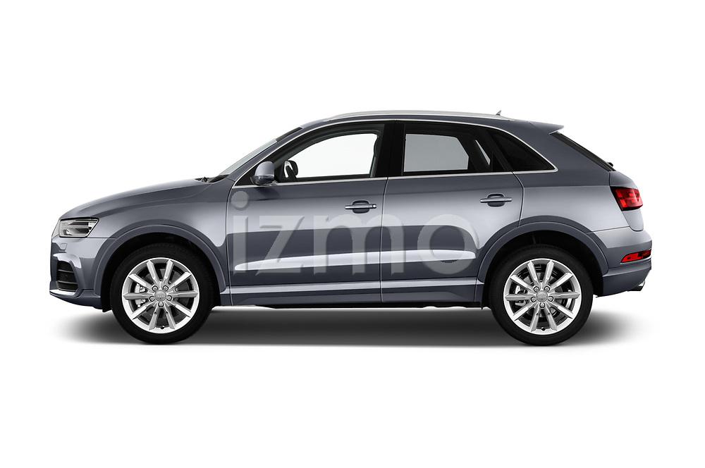 Car driver side profile view of a 2018 Audi Q3 Premium 5 Door SUV