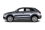 Car driver side profile view of a 2018 Audi Q3 Premium 5 Door SUV