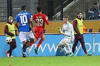 Torwart Leon Bätge (Eintracht Frankfurt) machtlos beim Schuss von Cagatay Kader (FSV Frankfurt) zum 3:1 - 10.11.2016: FSV Frankfurt vs. Eintracht Frankfurt, Frankfurter Volksbank Stadion