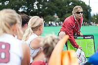 STANFORD, CA - September 19, 2010:  Head Coach Tara Danielson during the Stanford Field Hockey game against Cal in Stanford, California. Stanford lost 2-1.