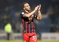 Blackburn Rovers' Elliott Bennett at the end of todays match<br /> <br /> Photographer Rachel Holborn/CameraSport<br /> <br /> The EFL Sky Bet League One - Gillingham v Blackburn Rovers - Tuesday 10th April 2018 - Priestfield Stadium - Gillingham<br /> <br /> World Copyright &copy; 2018 CameraSport. All rights reserved. 43 Linden Ave. Countesthorpe. Leicester. England. LE8 5PG - Tel: +44 (0) 116 277 4147 - admin@camerasport.com - www.camerasport.com