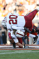 27 October 2007: Stanford Cardinal Clinton Snyder (20), Bo McNally (22) during Stanford's 23-6 loss against the Oregon State Beavers at Reser Stadium in Corvallis, OR.