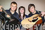 Ronan Lordan, Maria O'Sullivan and Chris Wieland Glengarriff who rocked at the KDYS County variety finals in Currow Community Centre on Friday night