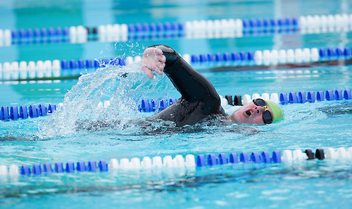 28 SEP 2013 - LONDON, GBR - Rod Elder swims another length during the 7.3 mile swim of the Enduroman 2013 Lands End to London to Dover ultra triathlon at Charlton Lido in London, Great Britain (PHOTO COPYRIGHT © 2013 NIGEL FARROW, ALL RIGHTS RESERVED)