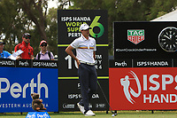 Chase Koepka (USA) in action on the 10th during Round 1 of the ISPS Handa World Super 6 Perth at Lake Karrinyup Country Club on the Thursday 8th February 2018.<br /> Picture:  Thos Caffrey / www.golffile.ie<br /> <br /> All photo usage must carry mandatory copyright credit (&copy; Golffile | Thos Caffrey)