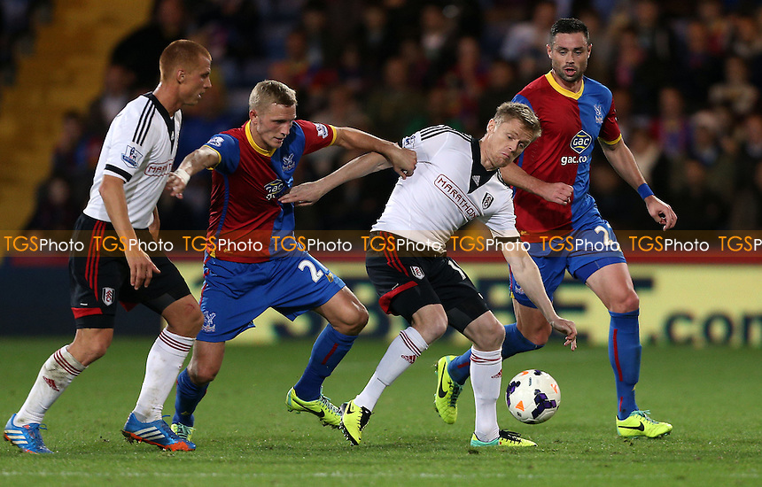 Damien Duff of Fulham - Crystal Palace vs Fulham, Barclays Premier League at Selhurst Park, Crystal Palace - 21/10/13 - MANDATORY CREDIT: Rob Newell/TGSPHOTO - Self billing applies where appropriate - 0845 094 6026 - contact@tgsphoto.co.uk - NO UNPAID USE