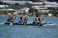 Waka Ama – CSW Champs at Porirua Harbour, Porirua, New Zealand on Saturday 14 March 2020. <br /> Photo by Masanori Udagawa. <br /> www.photowellington.photoshelter.com