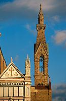 Italien, Toskana, Florenz, Detail der Kirche Santa Croce, Unesco-Weltkuturerbe