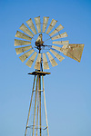 Aermotor windmill by a rural ranch, Stanislaus Co., Calif.