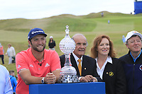 Jon Rahm (ESP) wins the tournament by 2 shots at the end of Sunday's Final Round of the Dubai Duty Free Irish Open 2019, held at Lahinch Golf Club, Lahinch, Ireland. 7th July 2019.<br /> Picture: Eoin Clarke | Golffile<br /> <br /> <br /> All photos usage must carry mandatory copyright credit (© Golffile | Eoin Clarke)