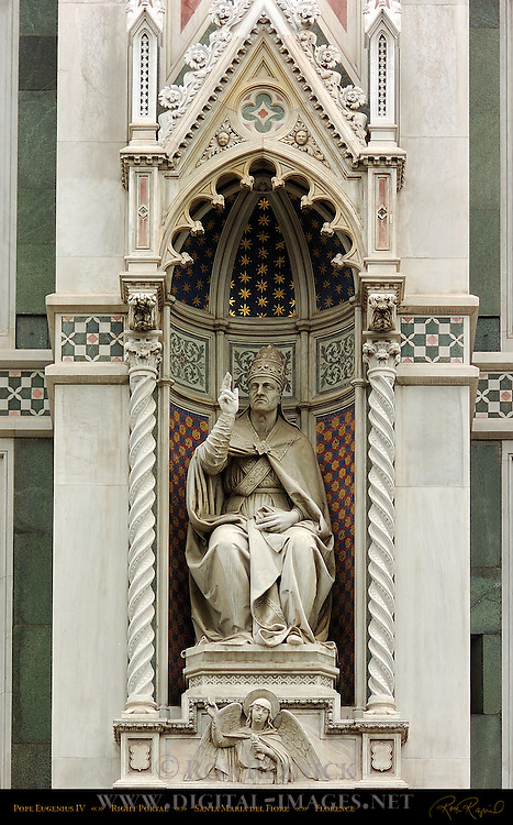 Pope Eugenius IV Right Portal Santa Maria del Fiore Florence