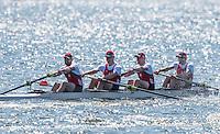 Brandenburg. GERMANY.<br /> BLR M4-. 2016 European Rowing Championships at the Regattastrecke Beetzsee<br /> <br /> Saturday  07/05/2016<br /> <br /> [Mandatory Credit; Peter SPURRIER/Intersport-images]