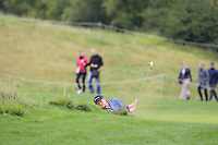 Eddie Pepperell (ENG) in a bunker on the 5th during Round 3 of the D+D Real Czech Masters at the Albatross Golf Resort, Prague, Czech Rep. 02/09/2017<br /> Picture: Golffile | Thos Caffrey<br /> <br /> <br /> All photo usage must carry mandatory copyright credit     (&copy; Golffile | Thos Caffrey)