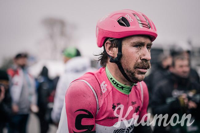 Mitchell Docker's (UAS/Education First-Drapac) post-race face<br /> <br /> 73rd Dwars Door Vlaanderen 2018 (1.UWT)<br /> Roeselare - Waregem (BEL): 180km