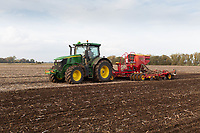 Drilling Winter wheat in the Lincolnshire Fens<br /> &copy;Tim Scrivener Photographer 07850 303986<br />      ....Covering Agriculture In The UK....