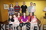 40th wedding celebrations for Rita and Sean O'Keeffe from Tournafulla pictured with their extended family last Friday in The Devonn Inn, Templeglantine. F l-r, Emma, Shauna, Sheila, Rita, Sean, Katelyn O'Keeffe. B l-r: Mary, Mike, Noel, Brendan and Chloe O'Keeffe...all family are O'Keeffe