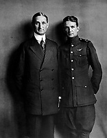 Secretary of the Treasury William G. McAdoo and his son William, Jr., who is in the aviation branch of the Navy.  September 1918.  Underwood &amp; Underwood. (War Dept.)<br />