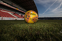 General view of a match ball ahead of the Sky Bet League 1 match between Fleetwood Town and MK Dons at Highbury Stadium, Fleetwood, England on 24 February 2018. Photo by David Horn / PRiME Media Images