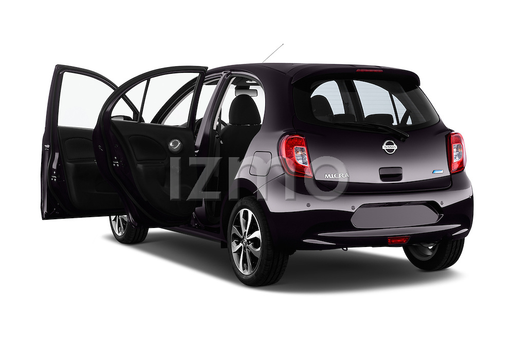 Rear three quarter door view of a 2013 - 2014 Nissan MICRA 5 Door Hatchback 2WD