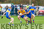 Liam Carey Beaufort causing havoc in the Michael Cusacks defence during their Munster semi final in Beaufort on Sunday