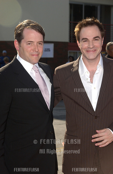Actors MATTHEW BRODERICK (left) & ROGER BART at the world premiere, in Los Angeles, of their new movie The Stepford Wives..June 6, 2004