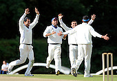 Scotland V Afghanistan, ICC Intercontinental Cup tie, Day 3, at New Cambusdoon, Ayr - Victory celebrations for Afghanistan after securing the final Scottish wicket - Picture by Donald MacLeod 14.08.10 - mobile 07702 319 738 - clanmacleod@btinternet.com
