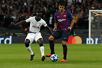 Luis Suarez of FC Barcelona and Davinson Sanchez of Tottenham Hotspur during Tottenham Hotspur vs FC Barcelona, UEFA Champions League Football at Wembley Stadium on 3rd October 2018
