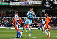 Bristol Rovers' goalkeeper Jack Bonham cuts out a cross<br /> <br /> Photographer Andrew Kearns/CameraSport<br /> <br /> The EFL Sky Bet League Two - Bristol Rovers v Blackpool - Saturday 2nd March 2019 - Memorial Stadium - Bristol<br /> <br /> World Copyright © 2019 CameraSport. All rights reserved. 43 Linden Ave. Countesthorpe. Leicester. England. LE8 5PG - Tel: +44 (0) 116 277 4147 - admin@camerasport.com - www.camerasport.com