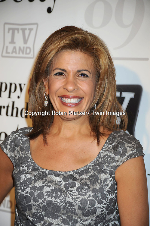 "Hoda Kotb attending Betty White's 89th Birthday party given by TV Land and the cast of ""Hot in Cleveland"" on January 18, 2011 at .Le Cirque in New York City."