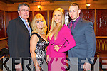 Pictured at the Stacks social held in the Meadowlands Hotel, Tralee on Saturday night were l-r: John Purcell, Mary Purcell, Shannon Lonergan and Sean Purcell.