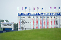 The final scoreboard following the 2019 KPMG Women's PGA Championship, Hazeltine National, Chaska, Minnesota, USA. 6/23/2019.<br /> Picture: Golffile | Ken Murray<br /> <br /> <br /> All photo usage must carry mandatory copyright credit (© Golffile | Ken Murray)