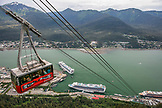 USA, Alaska, Juneau, views from the Mount Roberts Tramway of the port in Juneau