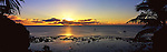 Niue Island Panorama - Sunset from Alofi in Niue<br /> <br /> Image taken on large format panoramic 6cm x 17cm transparency. Available for licencing and printing. email us at contact@widescenes.com for pricing.