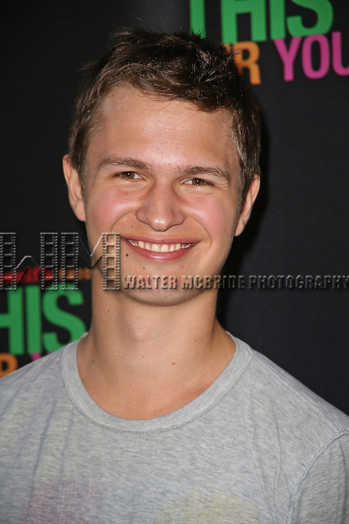 Ansel Elgort attends the Broadway Opening Night Performance of 'This Is Our Youth' at the Cort Theatre on September 11, 2014 in New York City.