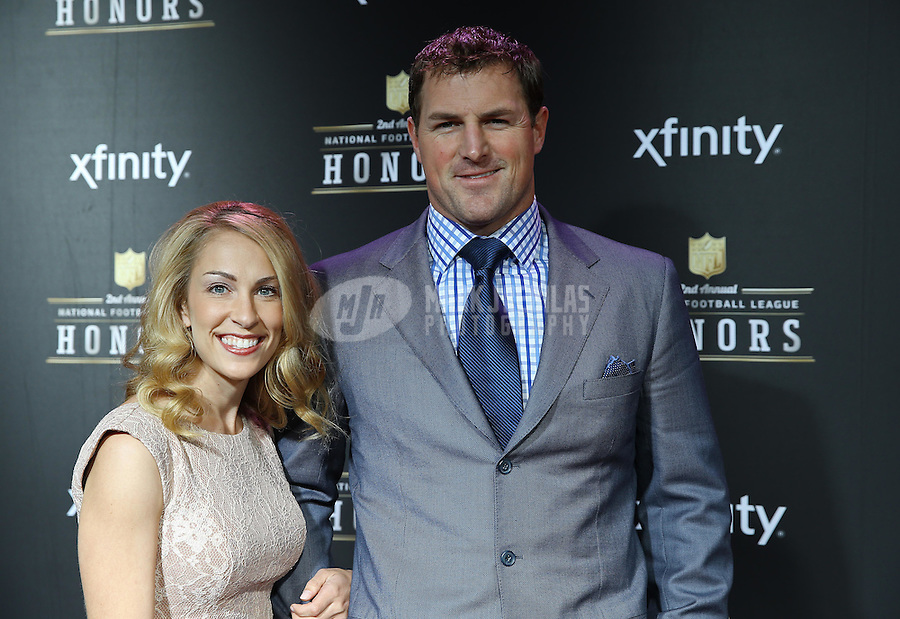 Feb. 2, 2013; New Orleans, LA, USA: Dallas Cowboys tight end Jason Witten (right) walks the red carpet with wife Michelle Witten prior to the Super Bowl XLVII NFL Honors award show at Mahalia Jackson Theater. Mandatory Credit: Mark J. Rebilas-USA TODAY Sports