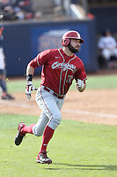 Yale Rosen #32 of the Washington State Cougars runs the bases during a game against the Cal State Fullerton Titans at Goodwin Field on  February 15, 2014 in Fullerton, California. Washington State defeated Fullerton, 9-7. (Larry Goren/Four Seam Images)