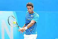 Feliciano Lopez (ESP) during his match versus Tomas Berdych (CZE) - Aegon Tennis Championships, Quarter Final at Queens Club, London - 13/06/14 - MANDATORY CREDIT: Rob Newell - Self billing applies where appropriate - 07808 022 631 - robnew1168@aol.com - NO UNPAID USE - BACS details for payment: Rob Newell A/C 11891604 Sort Code 16-60-51