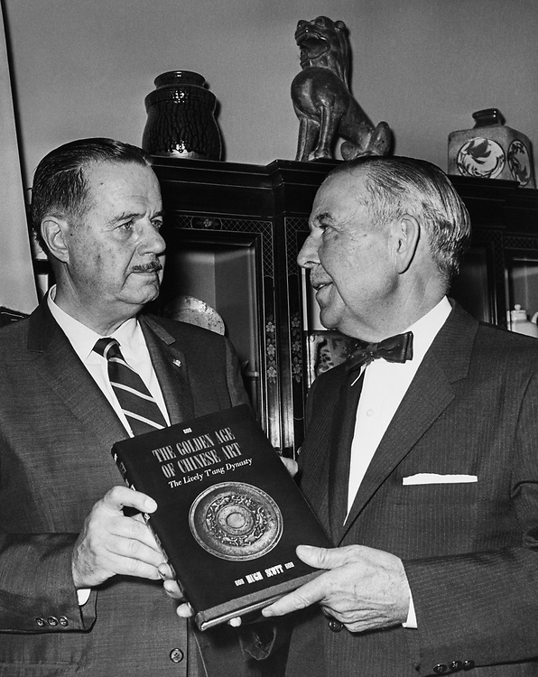 Sen. Hugh Scott, R-Pa., standing with Luincy Mumford in 1959. (Photo by CQ Roll Call)
