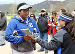Kaitlyn Jimmy at the Sophomore Day celebration after the first game of the Western Nevada College softball doubleheader on Saturday, April 30, 2016 at Pete Livermore Sports Complex. Photo by Shannon Litz/Nevada Photo Source