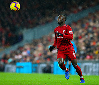 Liverpool's Naby Keita<br /> <br /> Photographer AlexDodd/CameraSport<br /> <br /> The Premier League - Liverpool v Manchester United - Sunday 16th December 2018 - Anfield - Liverpool<br /> <br /> World Copyright &copy; 2018 CameraSport. All rights reserved. 43 Linden Ave. Countesthorpe. Leicester. England. LE8 5PG - Tel: +44 (0) 116 277 4147 - admin@camerasport.com - www.camerasport.com