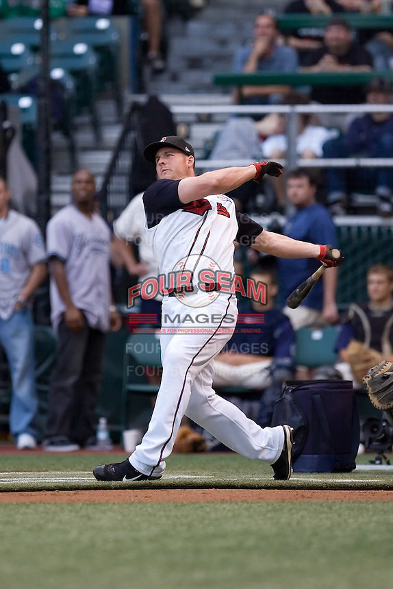 July 15, 2009: Nashville Sounds' Brendan Katin during the 2009 Triple-A All-Star Home Run Derby at PGE Park in Portland, Oregon.
