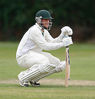 Shepherds Bush captain Jack Brydon surveys the scene during the Middlesex Cricket League Division Two game between Shepherds Bush and Hornsey at Bromyard Ave, London on Sat Aug 1, 2015