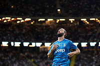 190810 Gonzalo Higuain of Juventus looks dejected during the International Champions Cup match between Atletico Madrid and Juventus on August 10, 2019 in Stockholm. <br /> Photo: Kenta Jönsson / BILDBYRAN / Insidefoto / Cop 210<br /> ITALY ONLY