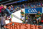 Stephen O'Brien and Kieran Donaghy Kerry players before the All Ireland Senior Football Quarter Final with Galway at Croke Park on Sunday.