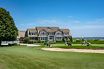 Old Saybrook, CT. Fenwick Golf course and estate house. Long Island Sound.