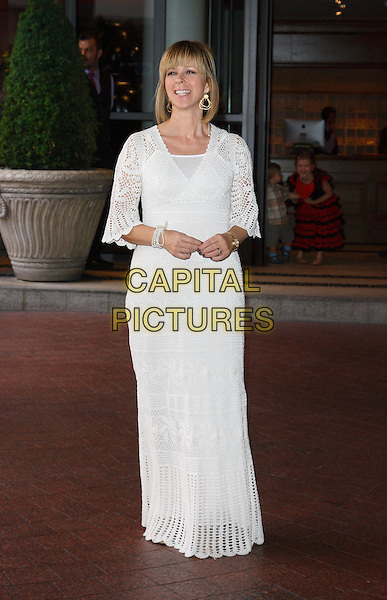 KATE GARRAWAY.'The Smurfs 3D' Gala Premiere at the Soho Hotel,  London, England..9th August 2011.full length white maxi dress lace crochet.CAP/ROS.©Steve Ross/Capital Pictures