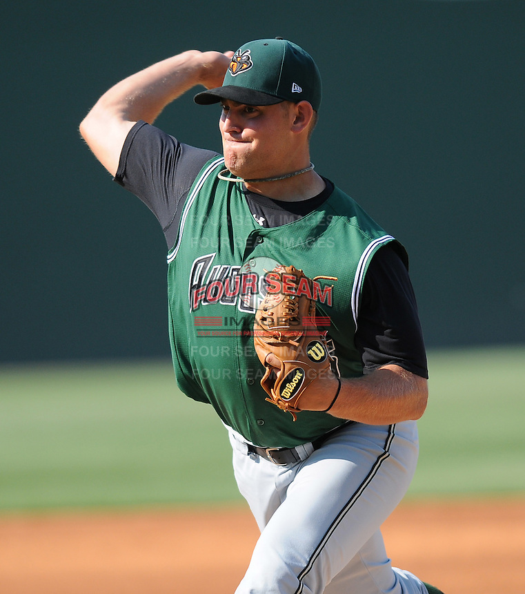 Pitcher Matt Graham (35) of the Augusta GreenJackets, Class A affiliate of the San Francisco Giants, in a game against the Greenville Drive on April 10, 2011, at Fluor Field at the West End in Greenville, S.C. Photo by Tom Priddy / Four Seam Images