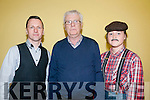 """Stars In Their Eyes: Taking part in then """"Stars in Their Eyes"""" event at Asdee Community Centre on Friday nigh last were Eoin O'Mahony, John Galvin & Jessica Dee."""