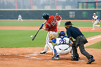 20 August 2007: #64 Petr Cech connects for a hit during the Czech Republic 6-1 victory over France in the Good Luck Beijing International baseball tournament (olympic test event) at the Wukesong Baseball Field in Beijing, China.