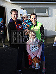 Gavin, Ruair&iacute;, Aine and Lily Kirwan at the Annagassan 10km.<br /> <br /> <br /> Photo - Jenny Matthews